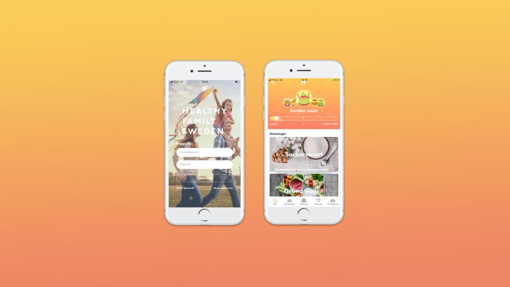 Skärmdumpar från Healthy familys appappen