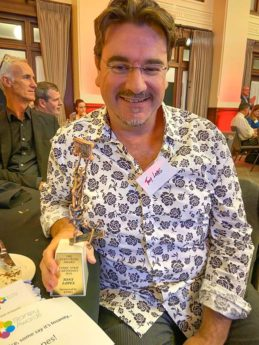 Tony Lopes with Stanley Award